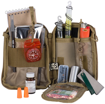 Compact Survival Kit w/ Fire Starter CSK