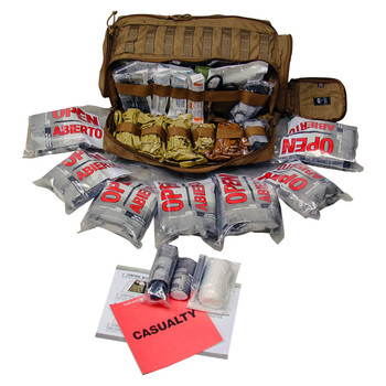 Active Shooter Response Kit w/ (7) Throw Kits Containing SOFTT Tourniquets ARK