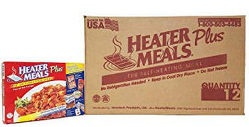 HeaterMeals Plus Self-Heating Entree Meal Kits w/ Beverage & Snacks - 12 Pack