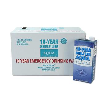 Aqua Literz 10 Year Shelf Life Emergency Drinking Water - Case or Pallet