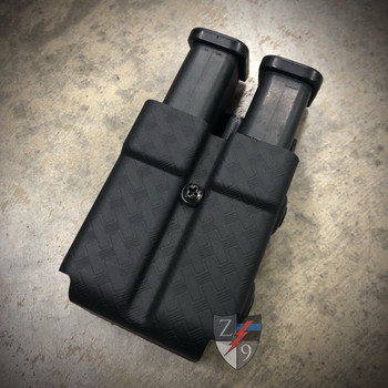 Duty Style Rigid Double Mag Pouch w/ Tek-Lok by Zero 9