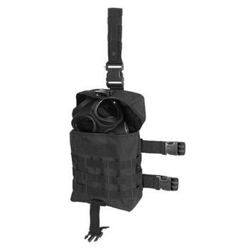 Voodoo Tactical Drop Leg Gas Mask Hip Platform - Black