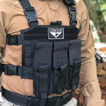 Spec Operator Condor Triple AK Mag Master Tactical Vest w/ Molle