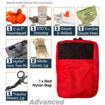 D-BCRK Individual Bleeding Control Kits- Designed for DOD Forces and Federal Employee by North American Rescue
