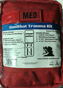 Gunshot Trauma Kit by Elite First Aid - FAGSTK