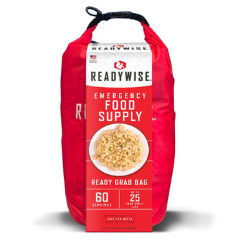 7 Day Emergency Dry Bag 60 Serving Breakfast & Entree Grab and Go - Ready Wise RW01-641