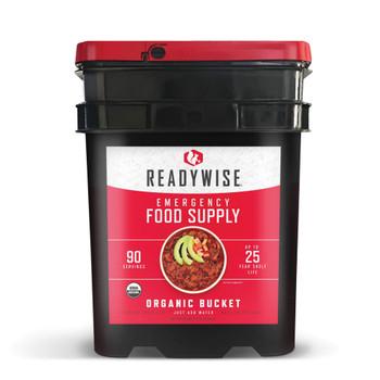 90 Serving Organic Emergency Food Bucket - Ready Wise RW05-825