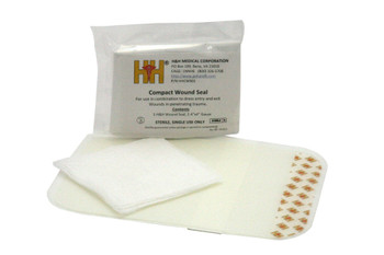 H&H Chest Wound Seal Kit w/ 4″ x 7.5″ ABD Pad HHWSK02