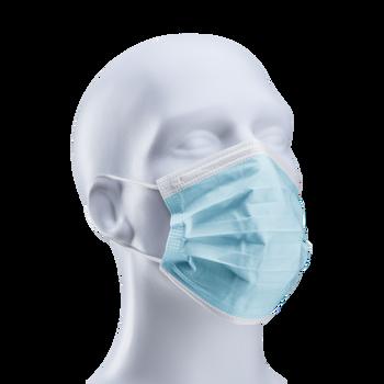 Procedure Face Mask w/ Ear loops, Blue - Dynarex 2201