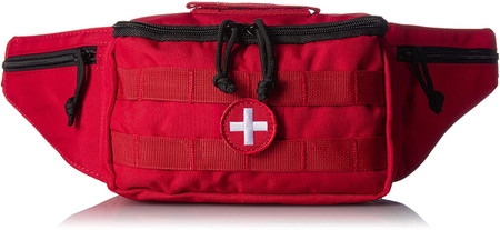 Red Medical Fanny Pack w/ Molle and Adjustable Waist Band