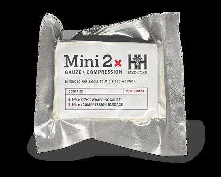H&H Mini 2X Bandage Wound Kit w/ (1) Compressed Bandage & (1) Wound Gauze