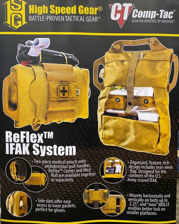 Reflex IFAK System w/ Med Roll & Plus Carrier, Fully Stock Kits