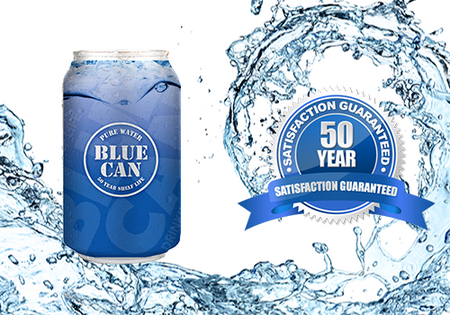 Blue Can 32 Oz Drinking Water - 50 Year Shelf Life