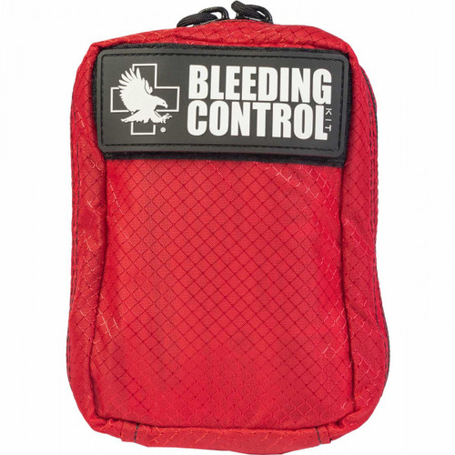 Public Access Individual Bleeding Control Kit w/ C-A-T Tourniquet - Red Nylon Bag