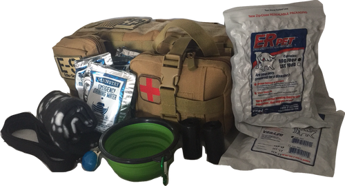 "Echo-Sigma ""Dog Pack"" Emergency Kit w/ Food, Water, Medical Supplies for Your Dog"