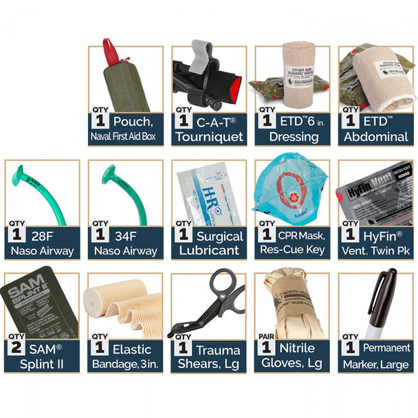 Naval First Aid Box Response Kit 80-0419