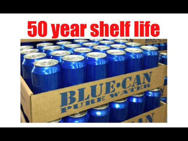 Blue Can Drinking Water 50 Year Shelf Life BC-598BCW12C