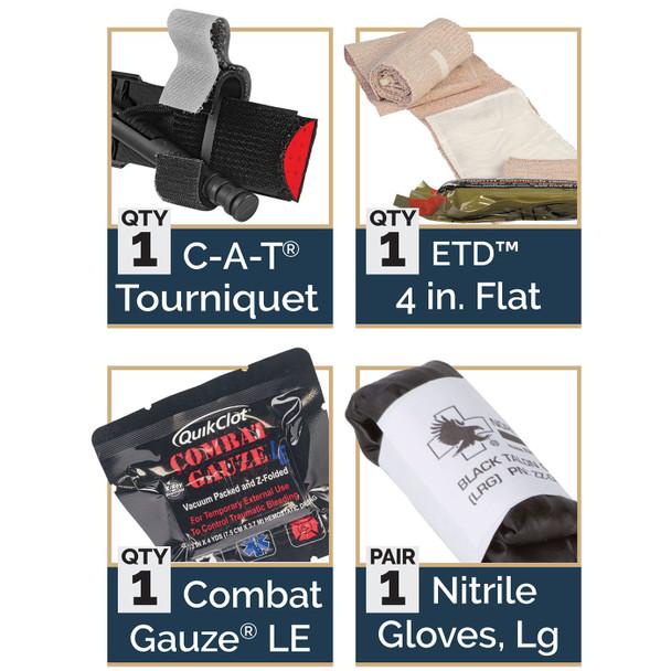 IPOK 80-0168 Bandage Option: w/ QuikClot LE Combat Gauze