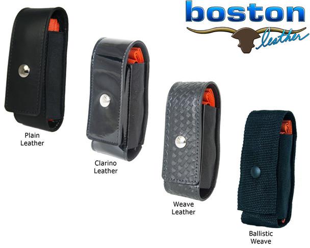 Boston Leather Black Leather Tourniquet Holders w/ Multiple Finish  4280