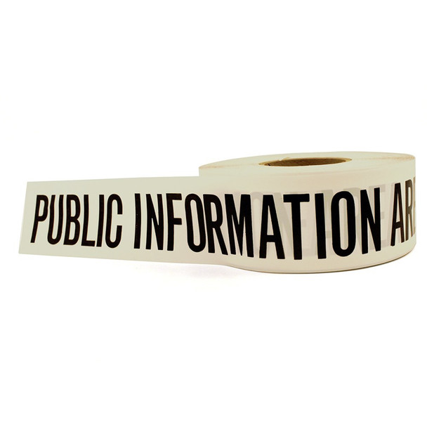 Barricade Tape – Public Information Area (White)  2 Pack 10081