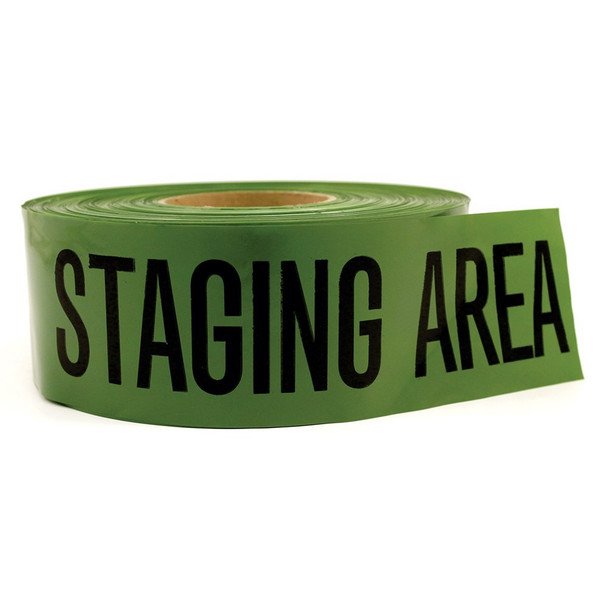 Barricade Tape – Staging Area (Green) 2 Pack 10082