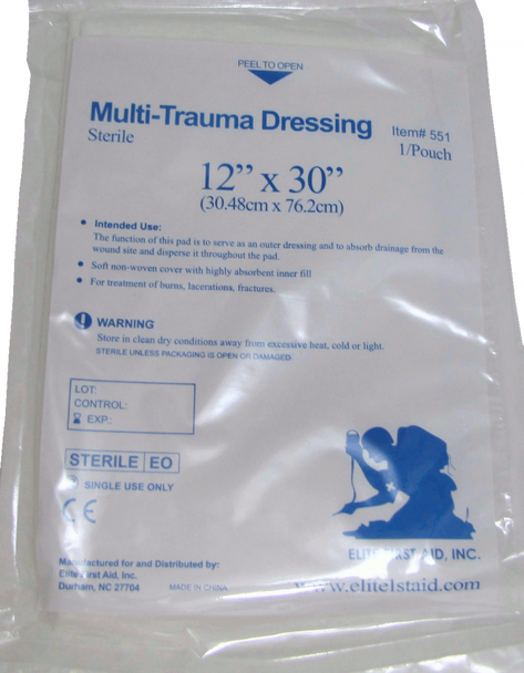 Forestry, Tree Service and Landscape Emergency Trauma First Aid Pack w/ C-A-T Tourniquet & QuikClot