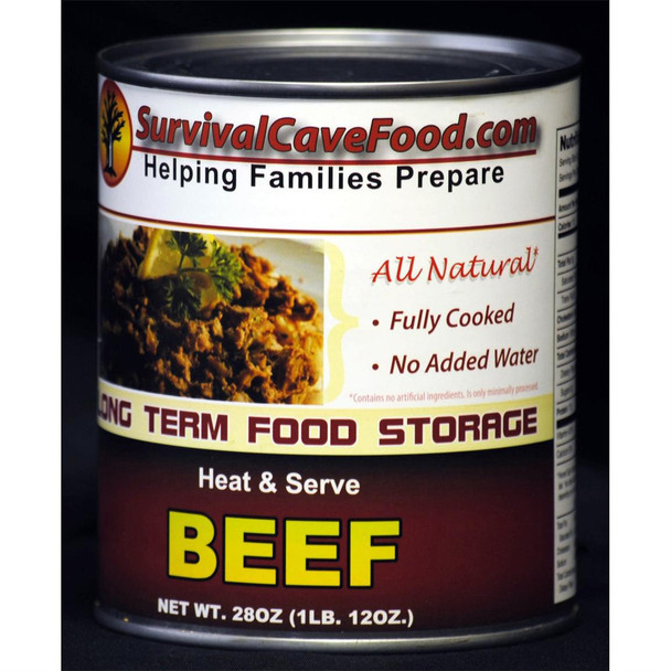 Beef - Ready to Eat Canned Meat 12 Cans Full Case SCFBFCASE
