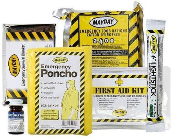 4 Person Deluxe Home Earthquake/Disaster Survival Emergency Kit 13040