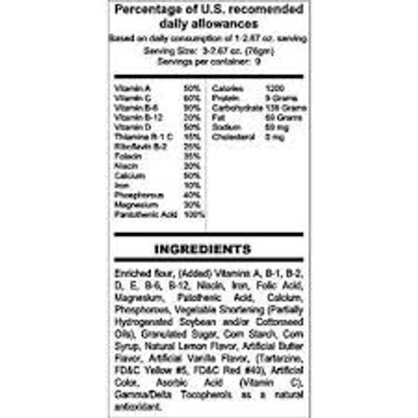 Earthquake Emergency Food Kit - 3600 Calorie Bar & Water Package w/ 2 FREE Rain Poncho