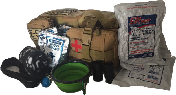 """""""Dog Pack"""" Emergency Kit w/ Food, Water, Medical Supplies for Your Dog"""