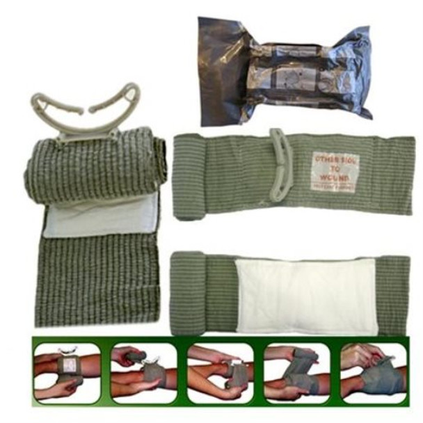 "Israeli 4"" 6"" Bandage  &  8"" Abdominal Wound Care - 3 Pack"