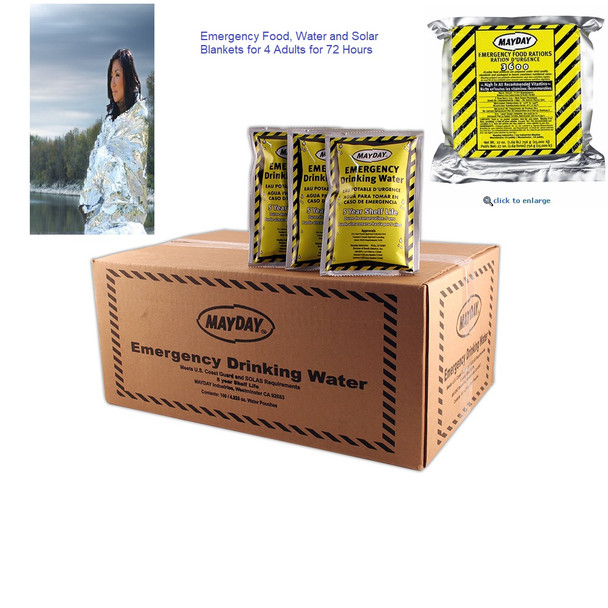 Emergency Food & Water Supply Kit Hurricane, Earthquake or Flood Preparedness