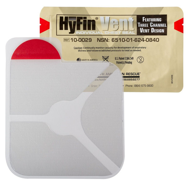Individual Vented Hyfin Chest Seal by North American Rescue 10-0029