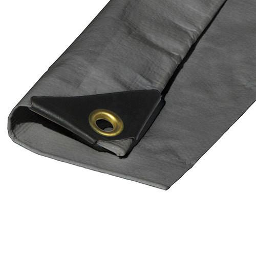 "06' X 16' Heavy Duty Premium Silver Poly Tarp (Actual Size 5'6"" X 15'6"")"