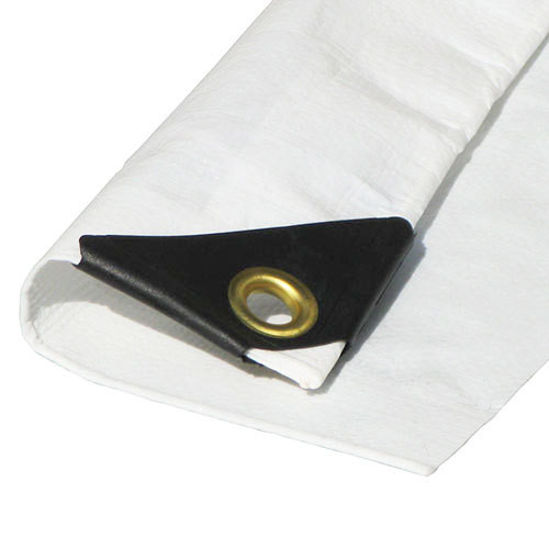 "50' x 50' Heavy Duty Premium White Poly Tarp (Actual Size 49'6""x49'6"")"
