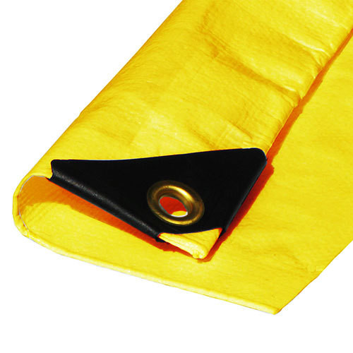 "10' X 16' Heavy Duty Yellow Poly Tarp (Actual Size 9'6"" X 15'6"")"