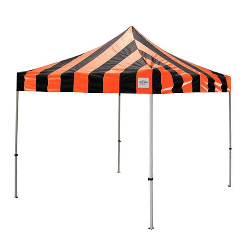 Black and Orange Pop Up Tents 10' x 10'