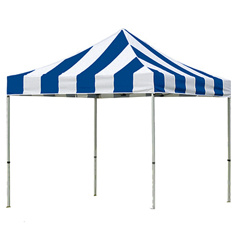 Blue and White Pop Up Tents 10' x 10'