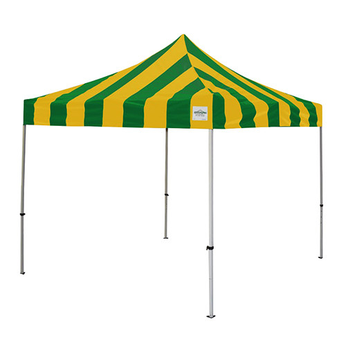 Green and Gold Pop Up Tents 10' x 10'