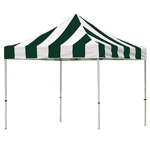 Green and White Pop Up Tents 10' x 10'