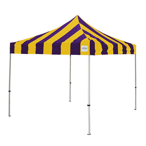 Purple and Gold Pop Up Tents 10' x 10'