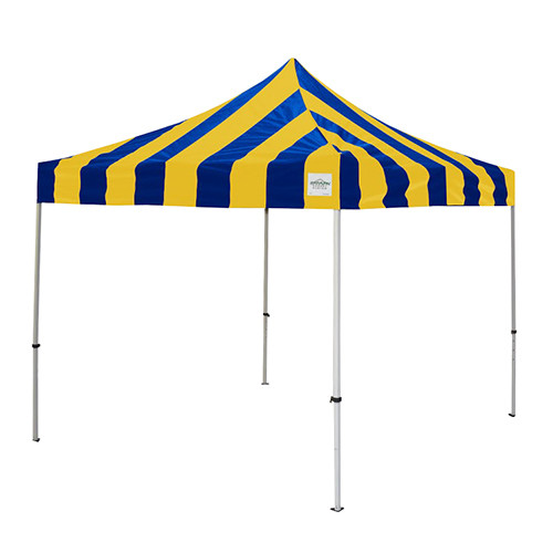 Blue and Gold Pop Up Tents 10' x 10'