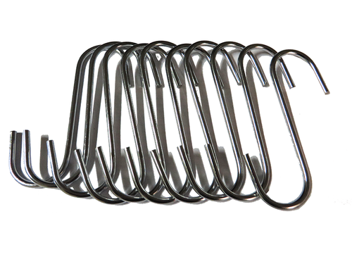 Chrome S-Hook 10PC