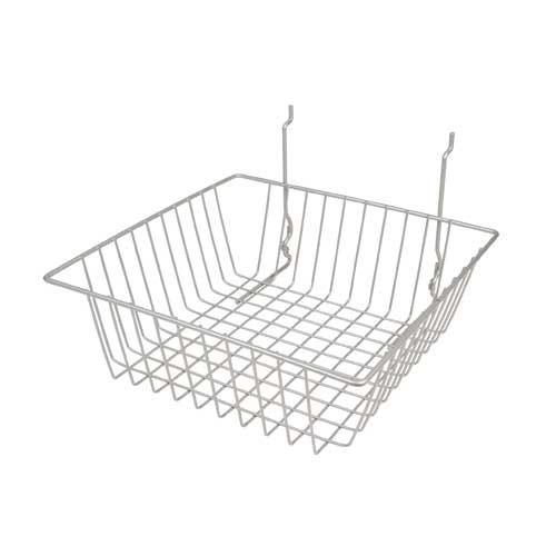 12' X 24' X 4' Chrome Gridwall/Slatwall Basket