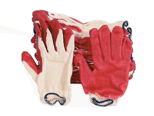 PVC-Lined Red Glove 12PR