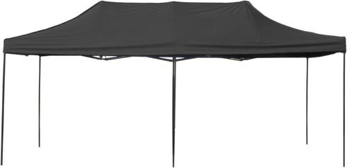 10' x 20' Pop-Up Tent Black 800 Denier Canopy Top