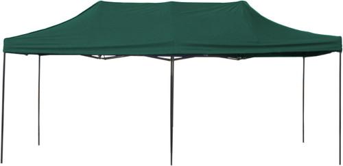 10' x 20' Pop-Up Tent Green 800 Denier Canopy Top