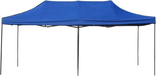10' x 20' Pop-Up Tent Blue 800 Denier Canopy Top