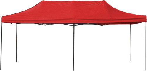 10' x 20' Pop-Up Tent Red 800 Denier Canopy Top