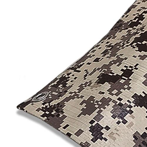 "08' X 10' Medium Duty Desert Camouflage Poly Tarp (Actual Size 7'6"" X 9'6"")"